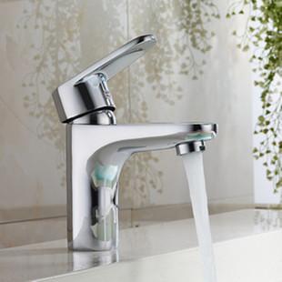 全铜单孔洗手盆水龙头卫生间冷热混水阀洗脸盆台盆面盆单冷水龙头