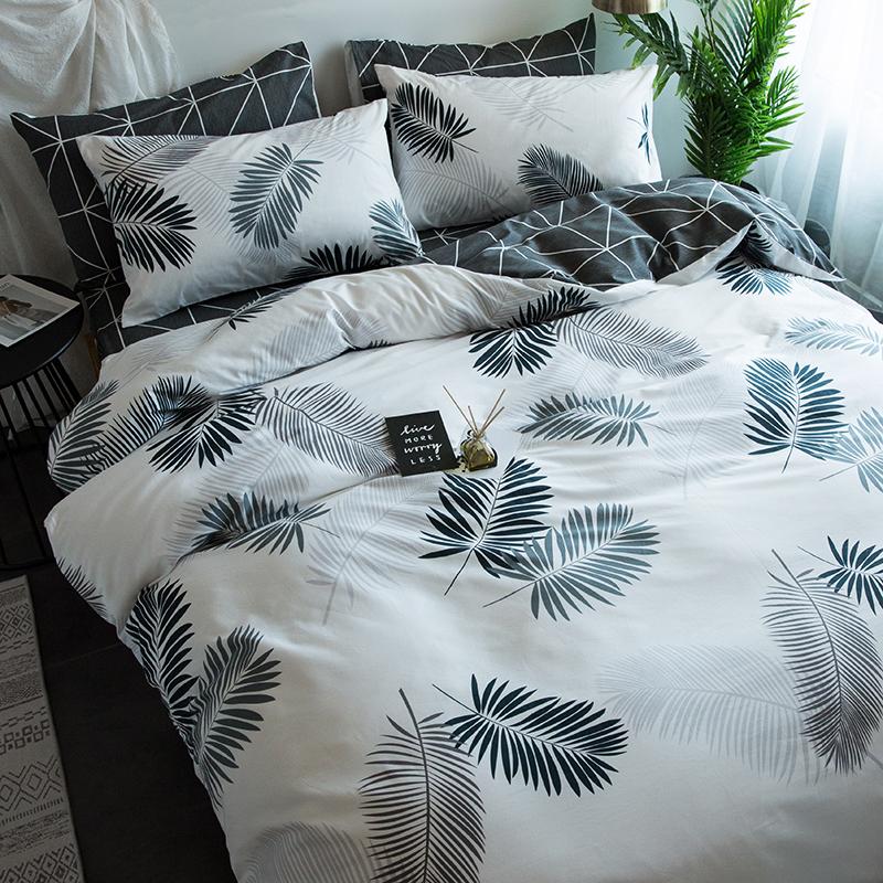 北欧美风全棉纯棉床上四件套简约欧式床单人三件套男网红被单被套