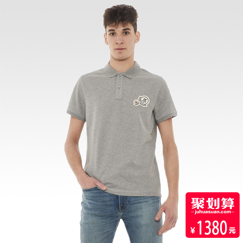 正品moncler-蒙口男装T恤 休闲纽扣翻领 青年男士运动短袖POLO衫