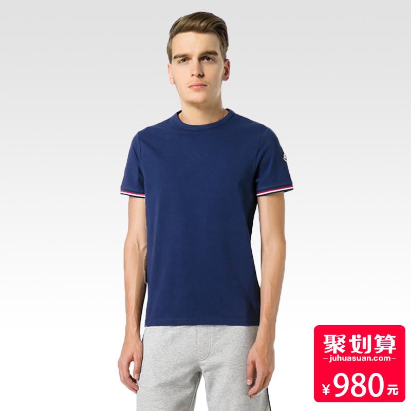 正品moncler-蒙口男装圆领夏季休闲圆领上衣欧美简约男士短袖T恤