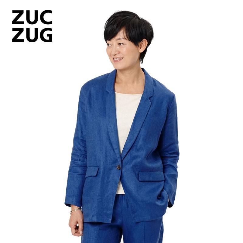 ZUCZUG-素然手语系列 斜纹麻布西装 S151SU01