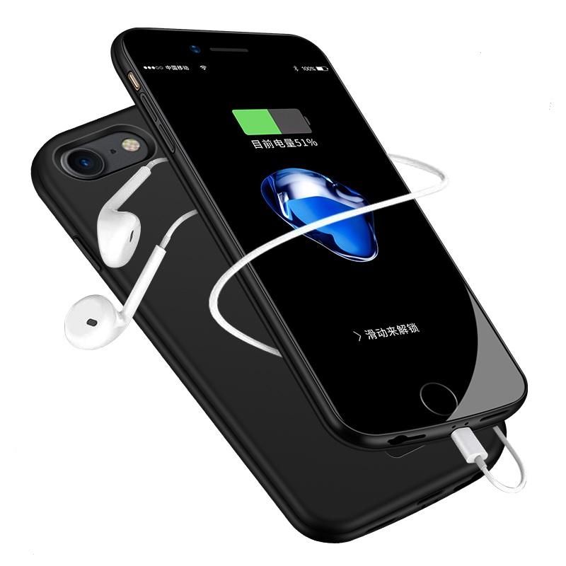 iphone7背夹式充电宝苹果6S电池plus专用8超薄6P手机壳一体原装移动电源iphoneX便携冲器苹果5-5S-S