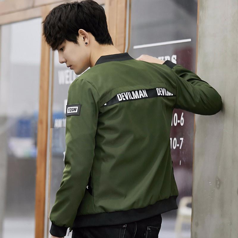 花花公子贵宾春季男士夹克外套韩版修身立领棒球服青少年夹克衫