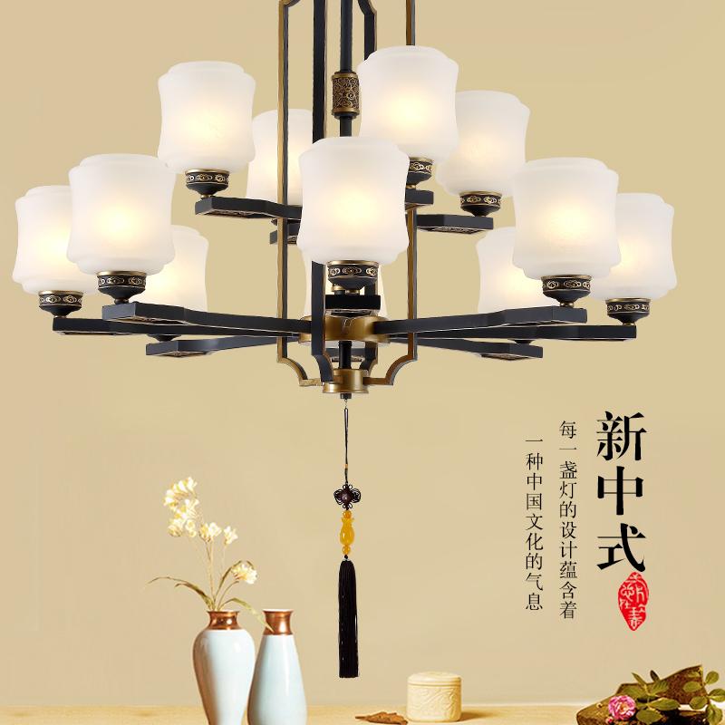 现代新中式吊灯轻奢中式灯饰中国风客厅灯仿古典书房复古餐厅灯具