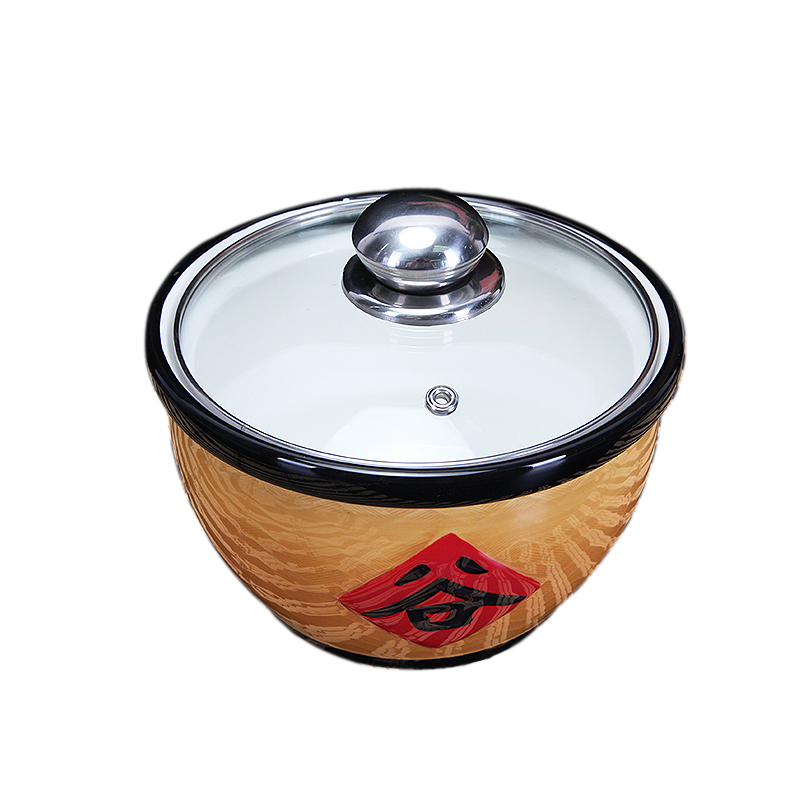 Traditional farmhouse characteristic steamed food bowl of household ceramic soup bowl with a lid soup bowl stew seasoning as cans rainbow such use