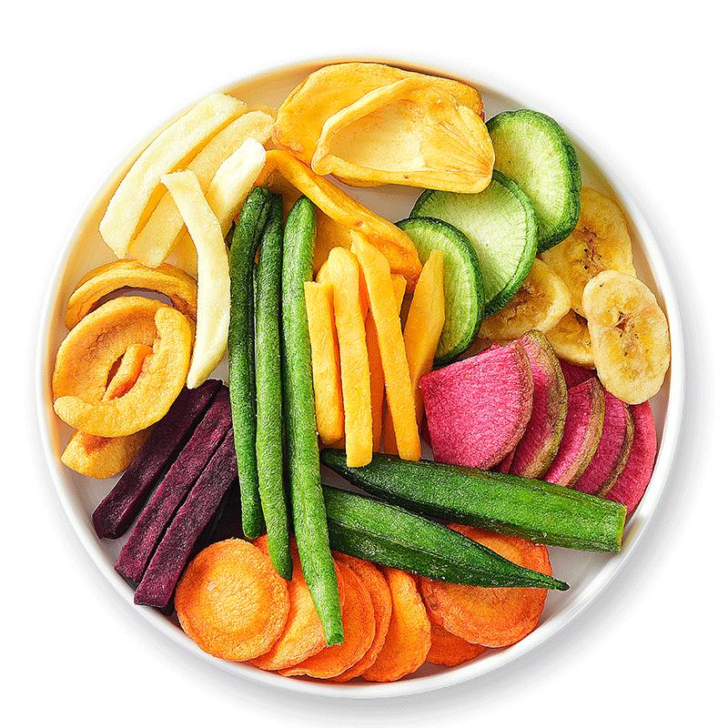 果蔬脆综合什锦蔬菜干水果干秋葵干香菇脆果蔬干混合装孕妇零食