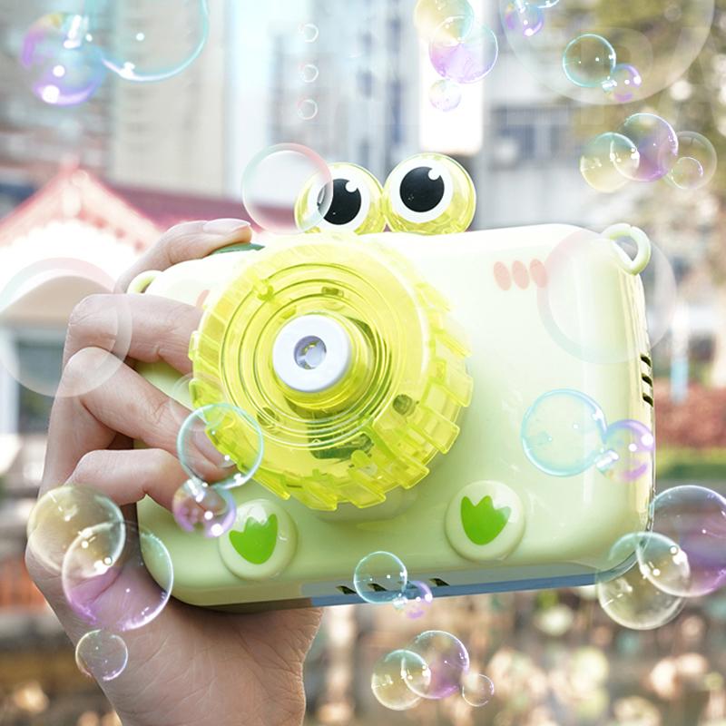 泡泡机吹泡泡不漏水照相机抖音款电动网红儿童少女心批发青蛙玩具
