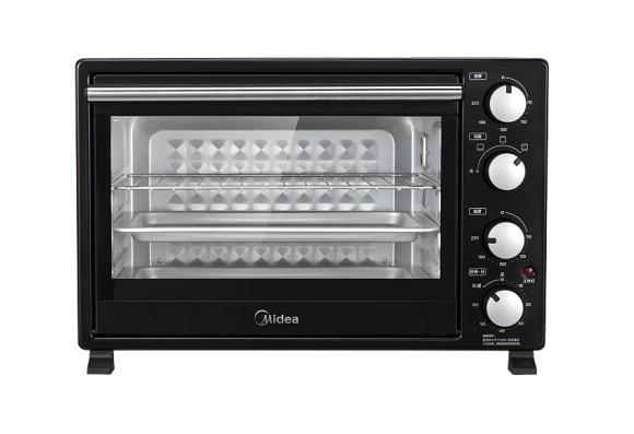 Midea/美的 PT3501电烤箱35L升家用烘焙多功能大容量上下独立控温