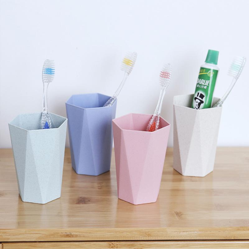 菱形杯 小麦秸秆杯子 麦香杯 加厚情侣洗漱杯 漱口杯