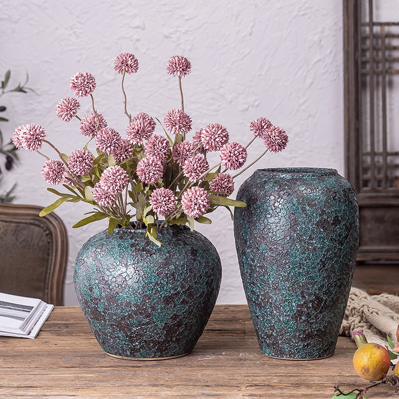 Jingdezhen ceramic vases, new Chinese style restoring ancient ways is the living room table creative dry flower arranging flowers adornment furnishing articles suit