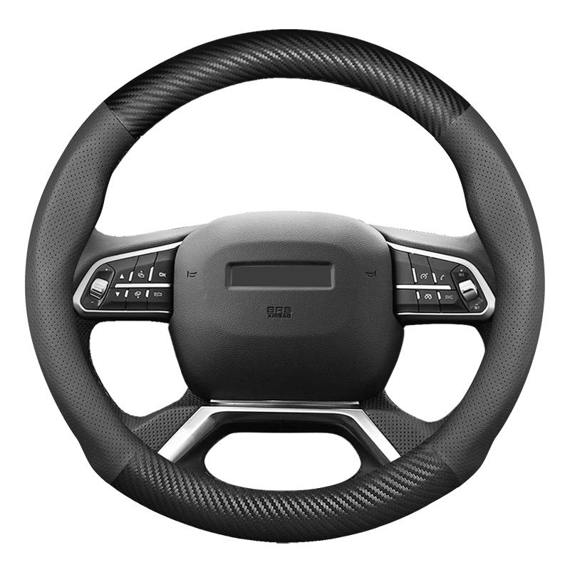 汽车方向盘套真皮大众方向套四季通用型碳纤汽车把套防滑吸汗皮套