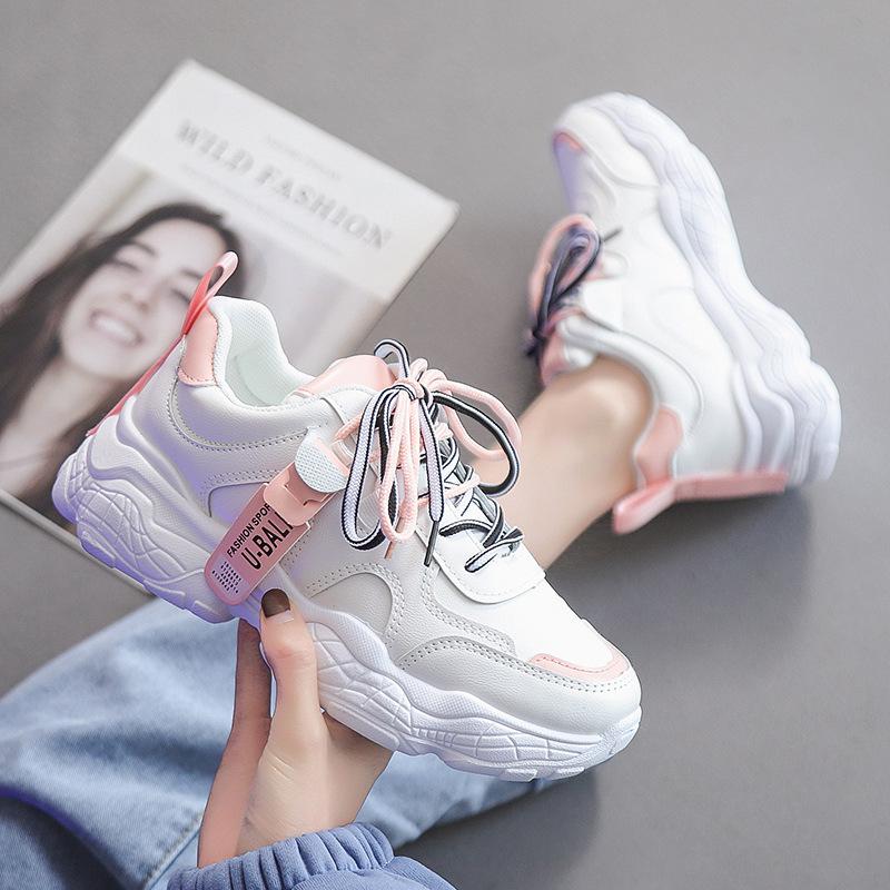 运动鞋女2021夏季新款鞋子女学生韩版小白鞋老爹鞋女ins休闲女鞋