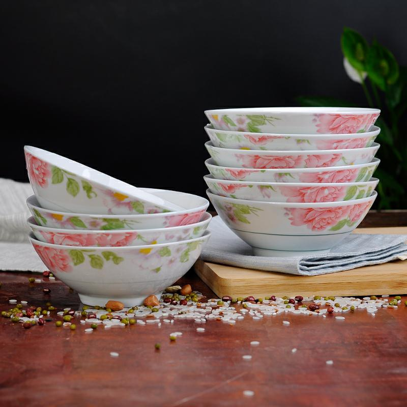 Hat to rainbow such to use old eat bowl dish bowl nostalgic retro large household more single hot ceramic bowl tableware