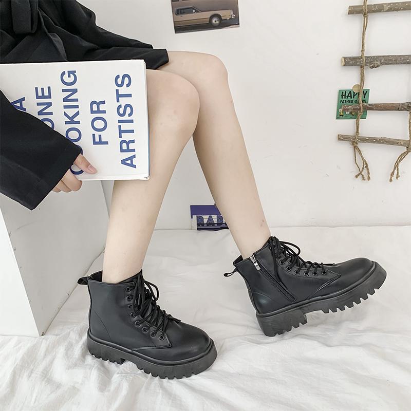马丁靴女春夏季薄款百搭潮ins透气瘦瘦靴厚底网红夏天靴子女短靴