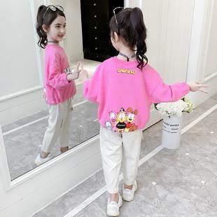 女童卫衣2020年新款春季儿童网红小雏菊薄款夏春秋T恤韩版洋气潮