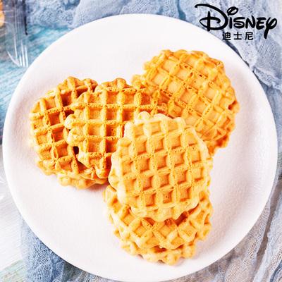 迪士尼原味华夫饼鸡蛋煎饼早餐代餐休闲零食小包装饼干蛋黄煎饼