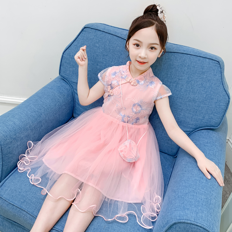 女童公主裙汉服连衣裙仙女裙纱裙蓬蓬裙童装