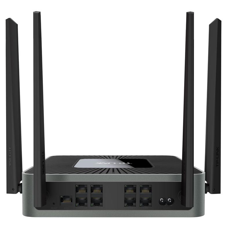 TPLINK企业级无线路由器9口全千兆WAR1208L商用光纤5g双频8孔家用