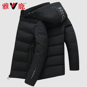 雅鹿棉服男韩版潮流冬季2019新款棉衣秋季宽松褂子夹克工装外套男