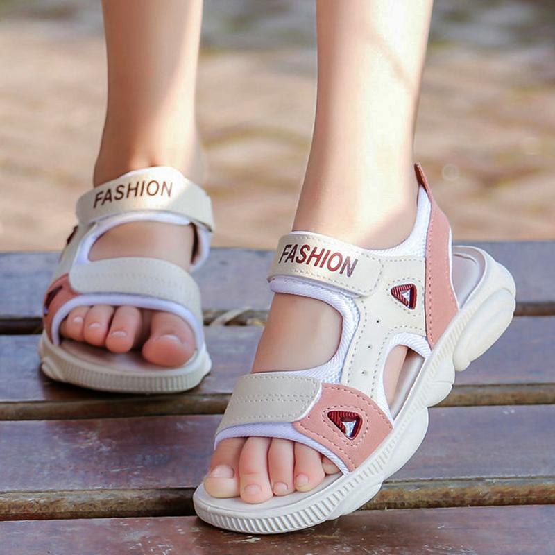 时尚女童凉鞋2020新款儿童鞋百搭凉鞋女学生运动凉鞋男童沙滩鞋夏