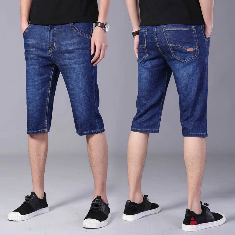 男士牛仔短裤2020新款五分裤男青年休闲裤舒适宽松马裤男牛仔裤夏