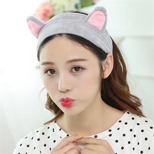 可爱猫耳朵洗脸发带韩版头饰发卡发箍女宽边头箍发饰头巾发圈饰品