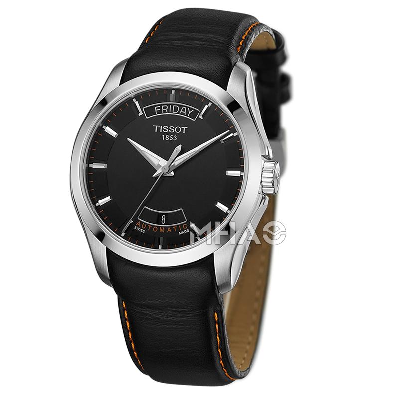 香港直郵瑞士天梭Tissot男表庫圖T035.407.16.051.01機械皮帶手表
