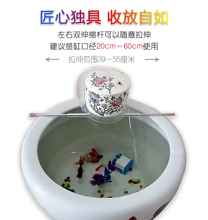 Jingdezhen round ceramic aquarium filter.mute fish basin water fountain furnishing articles package mail - oxygen humidification cycles