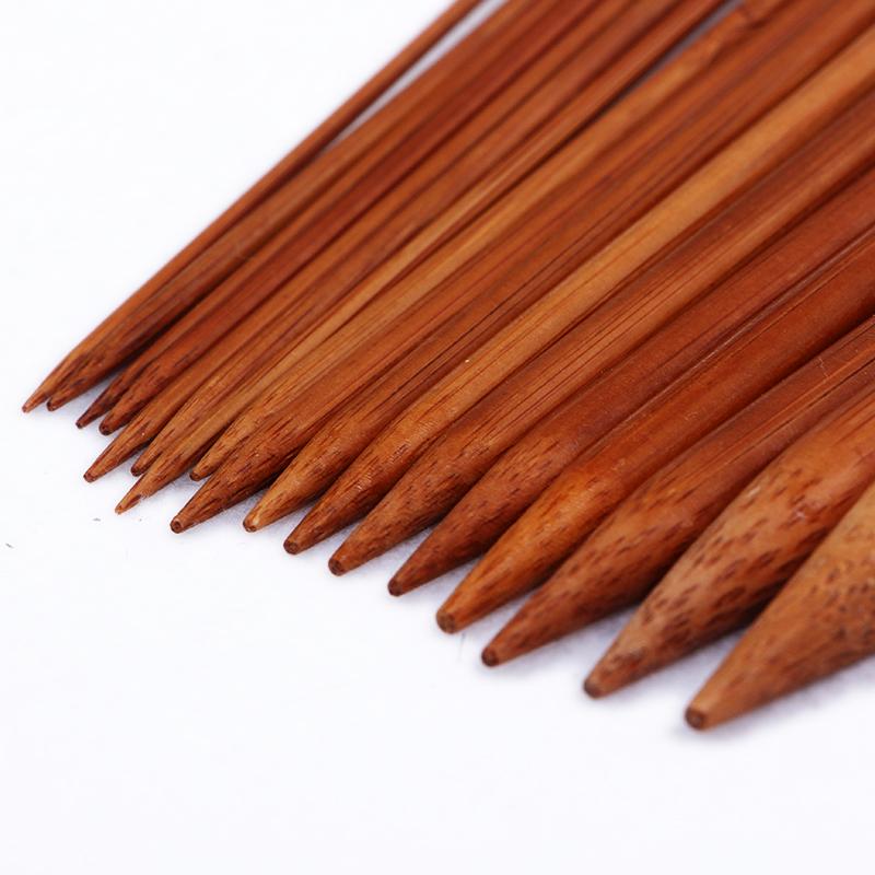 长35cm长棒针 单头竹棒针竹炭棒针木质长针毛衣针围巾针织毛线针