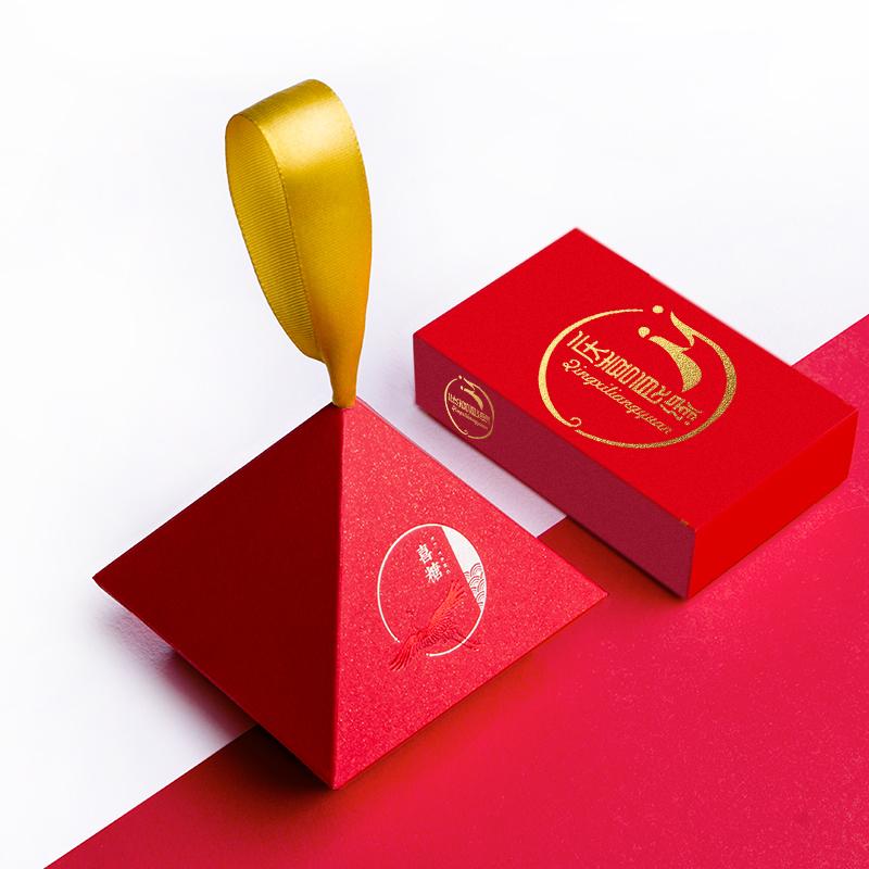 2020新款创意结婚喜糖盒高级中式中国风抖音喜糖盒子小号定制名字