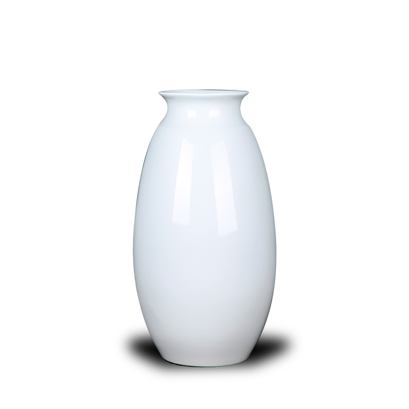Jingdezhen ceramics European white vase is placed in the dry flower arranging hotel adornment of I sitting room living room