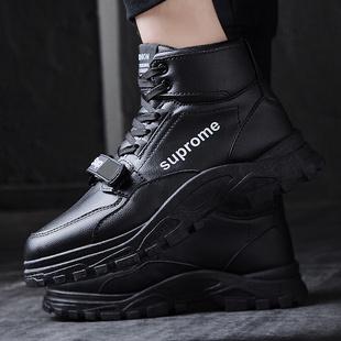 2019新款男士嘻哈男鞋韩版潮流运动鞋休闲街舞跑鞋高帮厚底潮鞋子