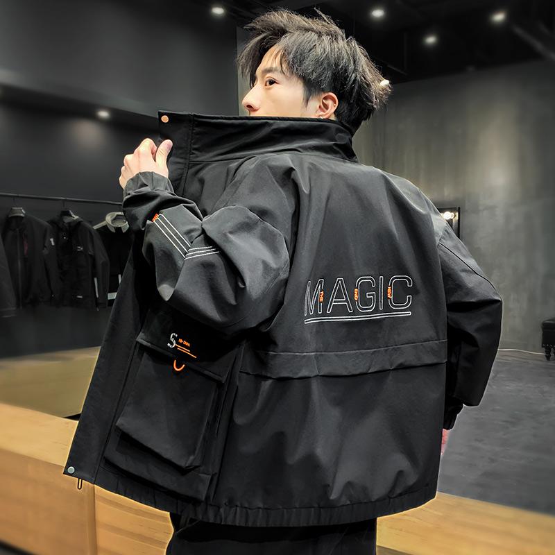 男士工装夹克2020春秋季新款韩版潮流学生上衣服宽松帅气机能外套