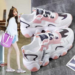老爹鞋子女2020夏季新款ins透气运动鞋女韩版百搭增高学生跑步鞋