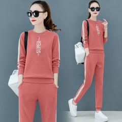 卫衣时尚潮流女士休闲运动棉服套装两件套2020春夏季新款宽松洋气