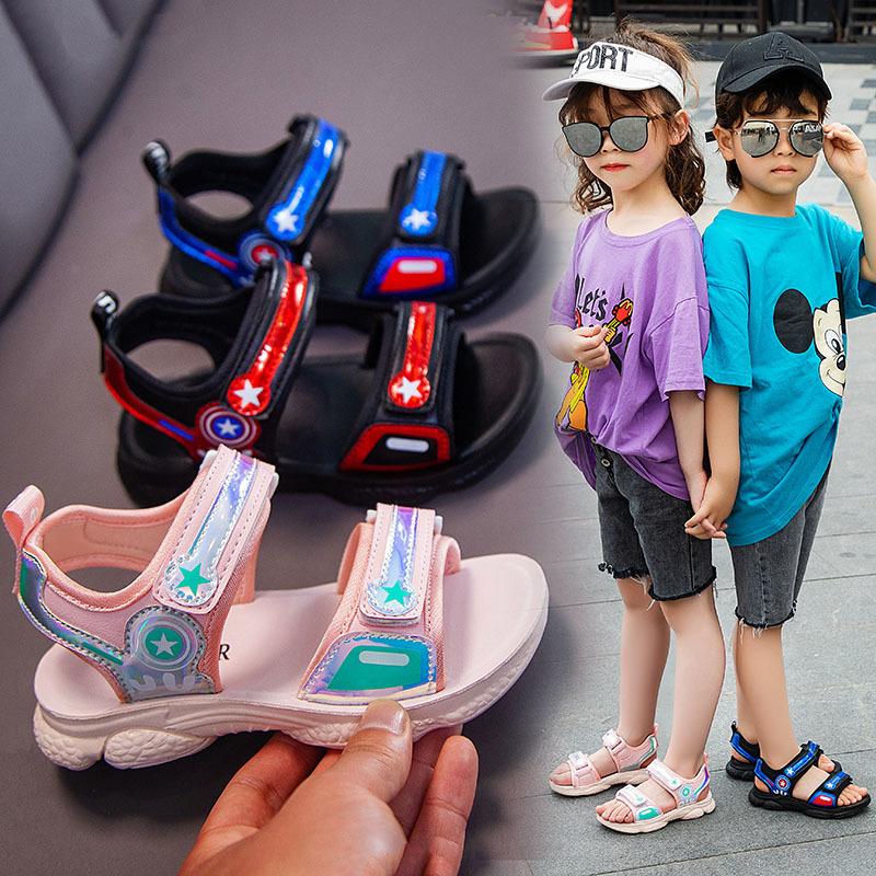 儿童凉鞋男 男童宝宝凉鞋女软底夏季新款沙滩鞋中大童韩版大男孩