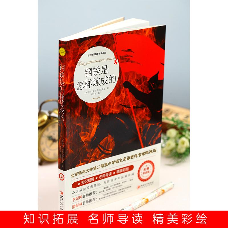 正版包郵 鋼鐵是怎樣煉成的外國小說書籍世界文學名著拓展閱讀:名師導讀 [蘇] 尼·奧斯特洛夫斯基小學生課外書故事書