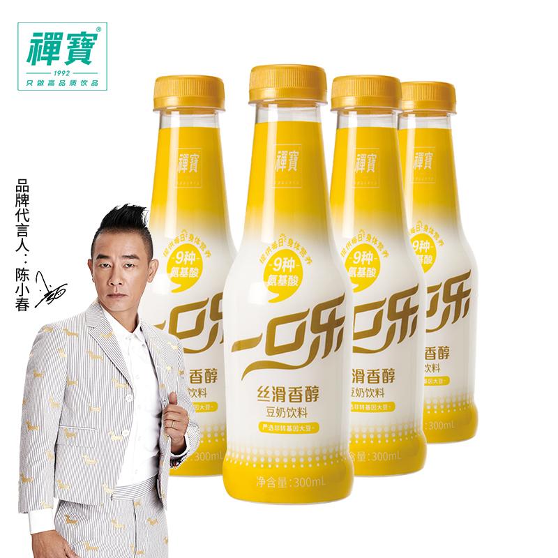 禅宝 一口乐 网红豆奶 300ml*4瓶