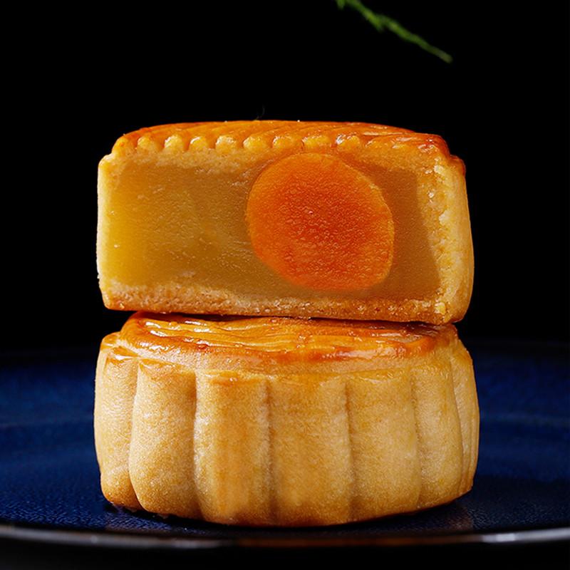 民歌 礼盒装广式五仁蛋黄莲蓉中秋月饼手工传统红豆沙多口味送礼