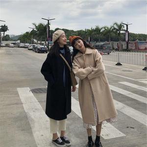 长款加厚呢子外套女2020冬装新款韩版显瘦百搭学生毛呢大衣外套潮