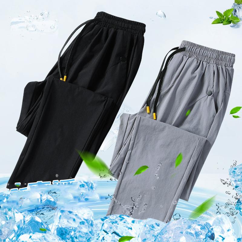 夏季休闲裤男士男装宽松夏季2020新款冰丝薄款运动裤子长裤男潮流
