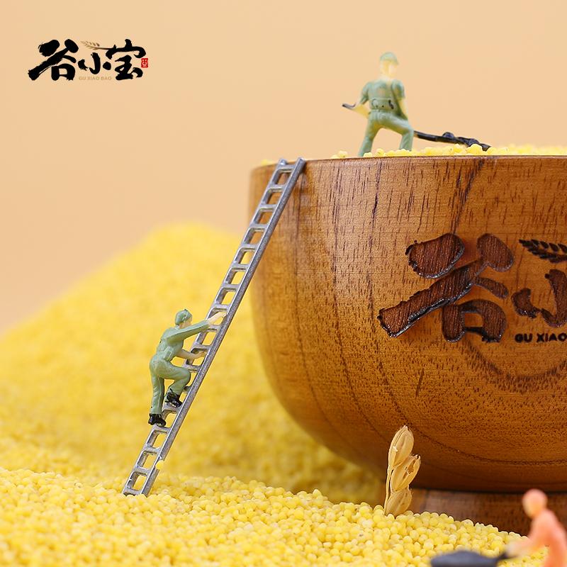 谷小宝有机黄小米5斤装新米东北朝阳2500g香糯粘稠杂粮食用小米粥