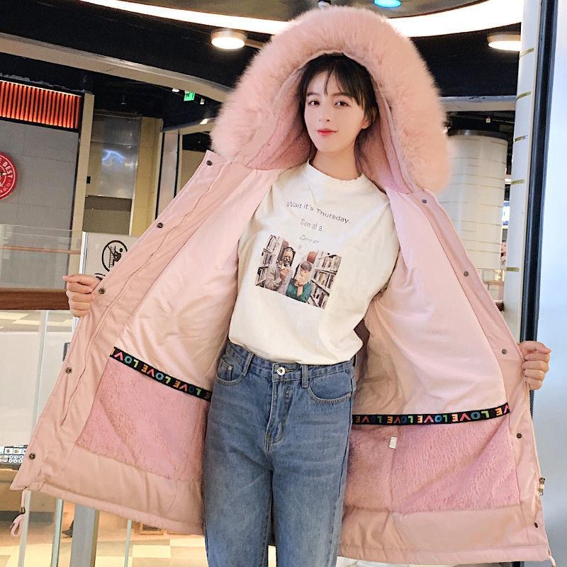 2020新款潮羽绒棉服女韩版中长款棉袄学生面包服派克服厚秋冬外套