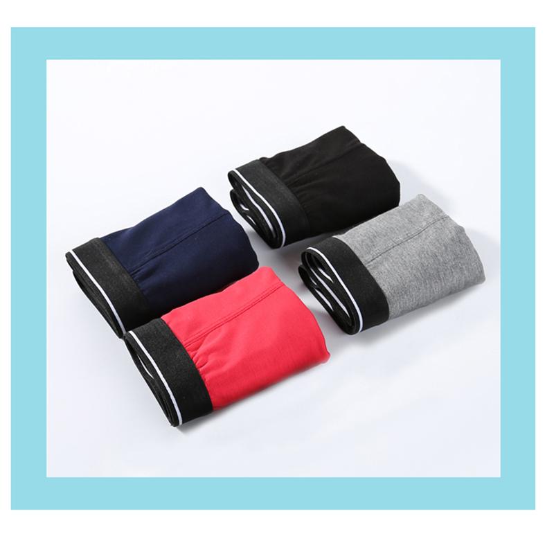 4条装莫代尔内裤男士平角纯棉全棉宽松透气舒适青年印花四角短裤