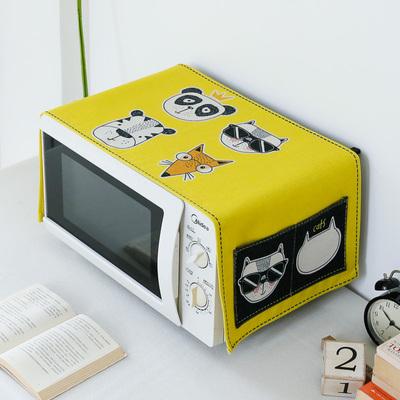 现代简约微波炉防尘罩防油盖布 烤箱搭帘保护罩防尘布盖巾布艺