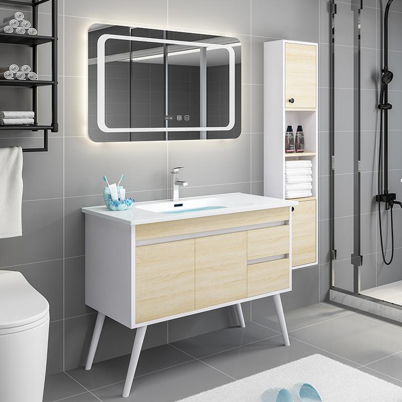 浴室柜组合现代简约挂墙式卫生间洗漱台面盆柜北欧洗手盆洗脸盆柜