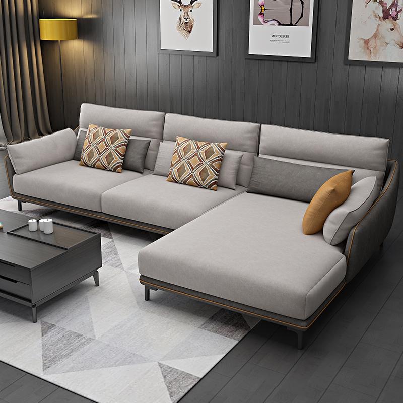 妮曼迪 北欧布艺沙发现代简约客厅整装大户型沙发可拆洗沙发组合