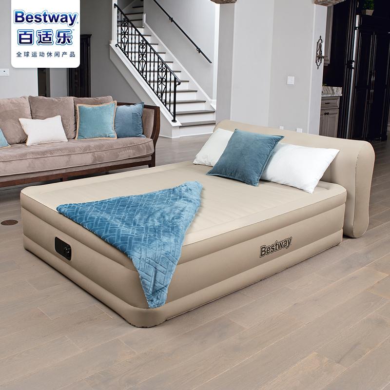 Bestway充气床家用双人 加厚靠背气垫床加高单人加大自动充气床垫