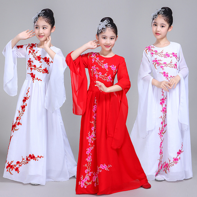 Children's chorus dress, costume, costume, girls, children, piano, guzheng, dance, performance costume.