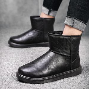 冬潮流雪地靴男士韩版防水防滑加绒加厚短靴百搭棉靴男靴保暖棉鞋